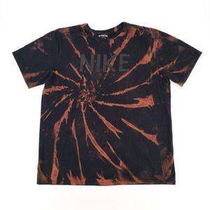Nike Custom Tie Dye Bleached T-Shirt Spellout Logo